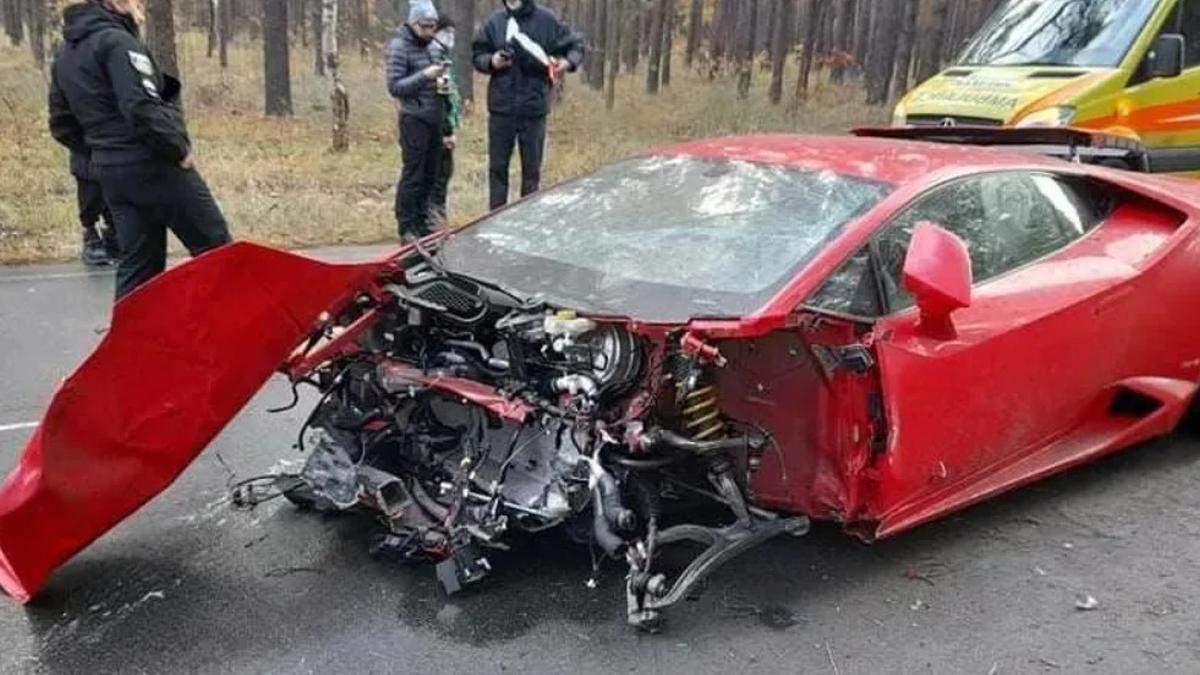 Стала відома вартість Lamborghini, яку вщент розбили біля Києва