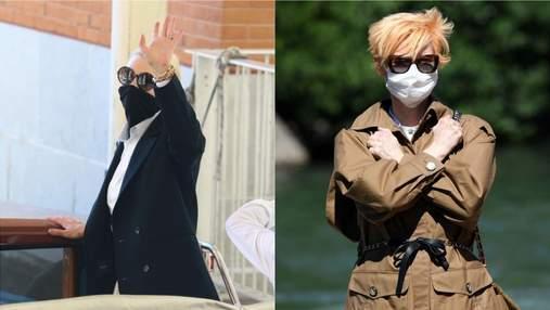 Стильні вбрання і маски: хто з акторів приїхав на Венеційський кінофестиваль – фото