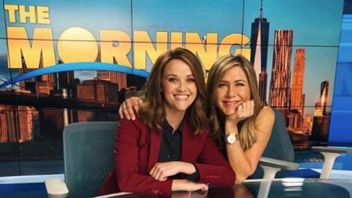 """2 сезону """"Ранкового шоу"""" бути: папараці зробили перші фото Дженніфер Еністон на зйомках"""
