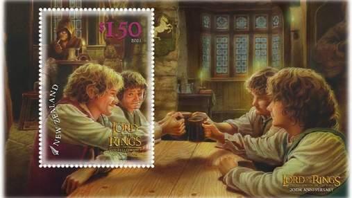 """До 20-річчя стрічки: у Новій Зеландії випустили поштові марки і листівки за """"Володарем перснів"""""""